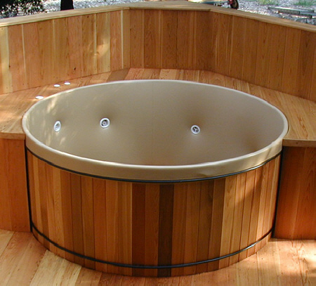 Our round Rubadub Tubs® have less surface area than square, rectangular or octagon spas equaling less heat loss and lower cost of operation.